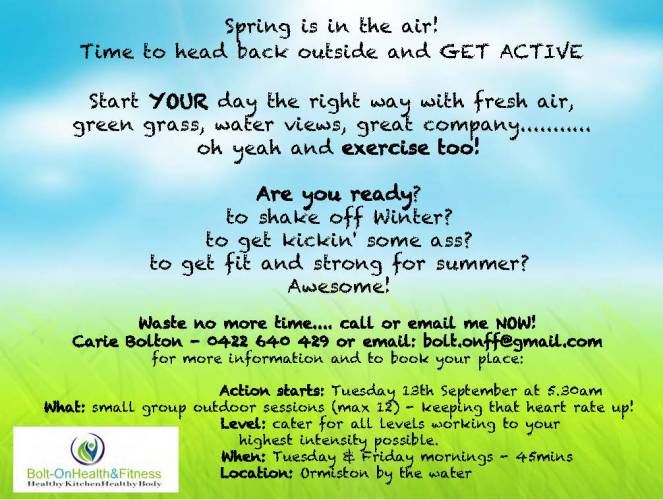 Spring into action poster 2